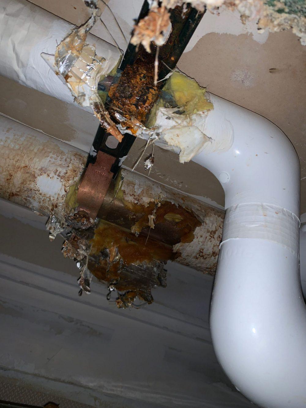 Water leak repair.