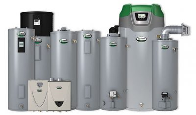 Heat pump, tankless and tank water heaters
